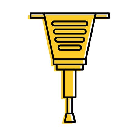 jackhammer tool repair construction equipment vector illustration Illustration
