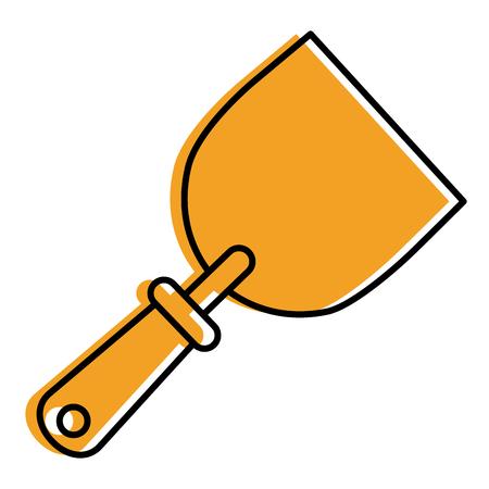 construction tool spatula handle icon vector illustration Illustration