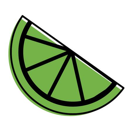 slice lemon citrus fruit fresh image vector illustration Illustration