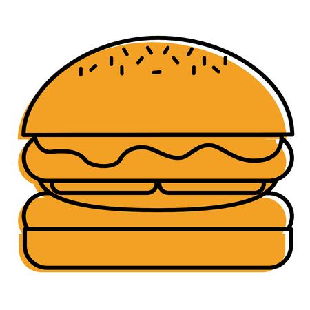 ハンバーガーパンパンレタスとチーズフレッシュベクトルイラスト  イラスト・ベクター素材