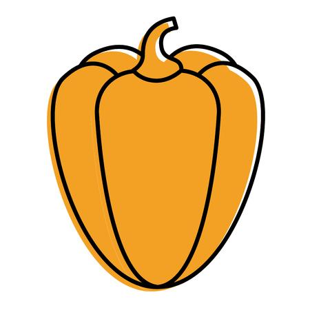 pepper vegetable fresh food diet vector illustration