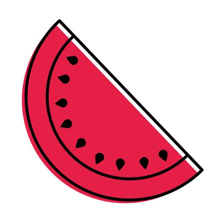 fruit juicy watermelon harvest food vector illustration