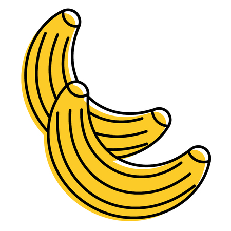 food fruit healthy bananas fresh vector illustration Illustration