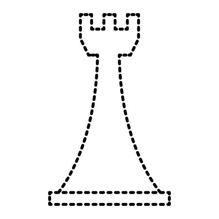 戦略的なビジネスベクトルイラストのためのチェスルークゲームフィギュア