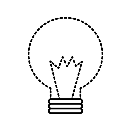 bulb energy power light icon vector illustration