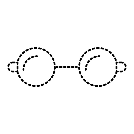 round glasses accessory fashion hipster icon vector illustration Illustration