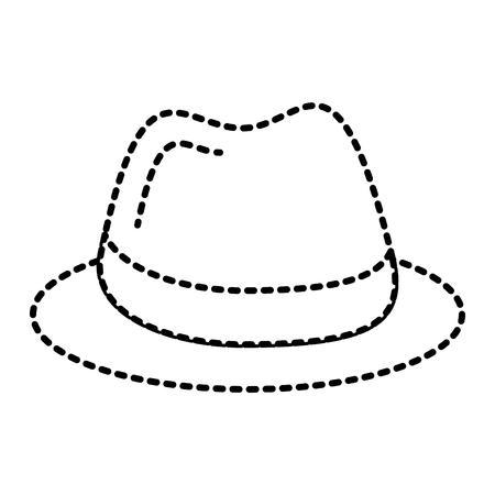 hat fashion accessory elegant icon vector illustration Ilustração