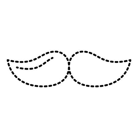 口ひげヒップスターファッションヴィンテージ画像ベクトルイラスト