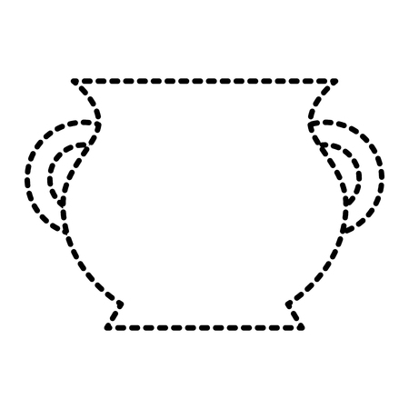 ceramic pot handle empty icon vector illustration