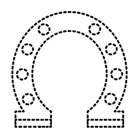 steel horseshoe symbolizes good luck vector illustration Stock Vector - 93265251