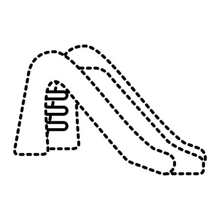 kid slide playground toy icon vector illustration Illustration