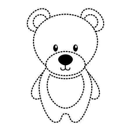 cute teddy bear toy adorable icon vector illustration Illustration