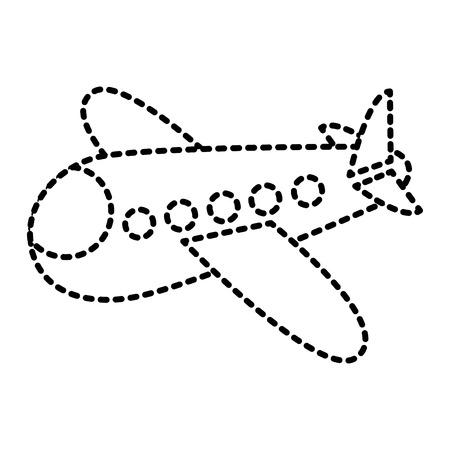 vlieg tuig reizen speelgoed pictogram vectorillustratie Stock Illustratie