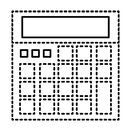 calculator device maths count icon vector illustration Ilustração