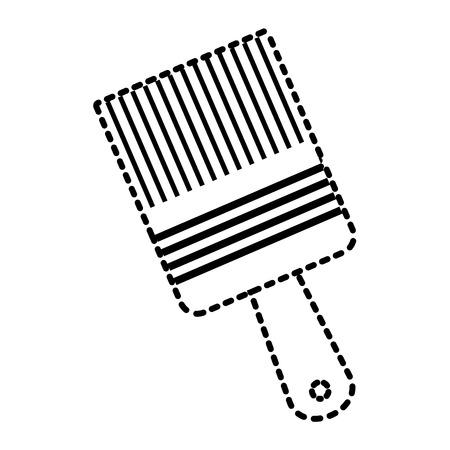 paint brush tool equipment renovation vector illustration