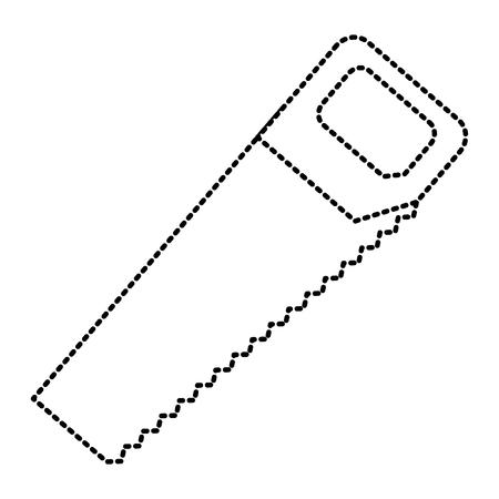 timmerwerk hulpmiddel instrument zag pictogram vector illustratie Stock Illustratie
