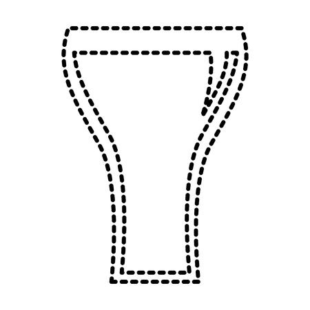Glass of soda straw bubbles beverage vector illustration
