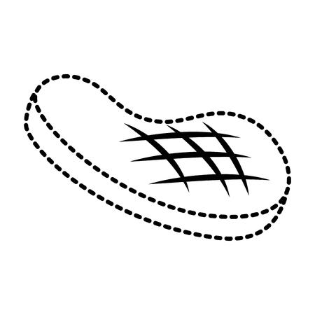 Illustrazione di vettore dell'icona del pasto grigliata bistecca di raccordo Archivio Fotografico - 93314706