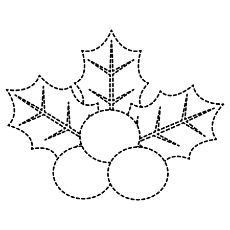 Christmas leafs decorative frame vector illustration design Иллюстрация