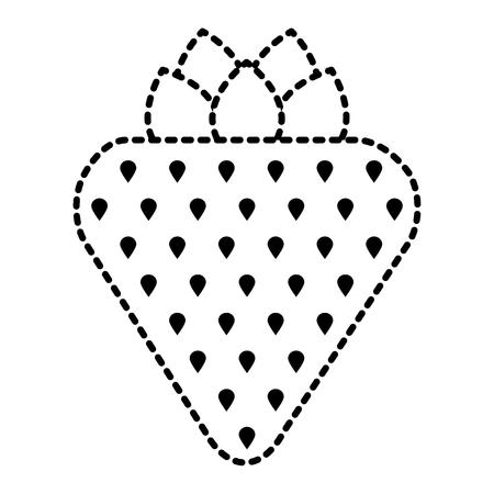 Strawberry fruit fresh tasty delicious icon vector illustration Illustration