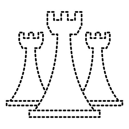 チェスルークピースゲーム戦略シンボルベクトルイラスト  イラスト・ベクター素材