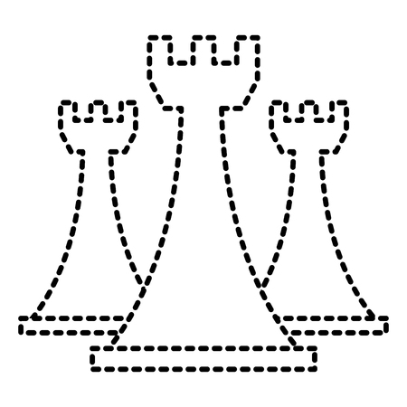 Schaken toren stukken spel strategie symbool vector illustratie