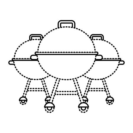3つのグリル機器準備食品ベクトルイラスト
