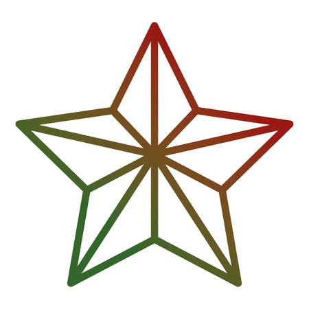 Christmas star decorative icon. Vector illustration design.