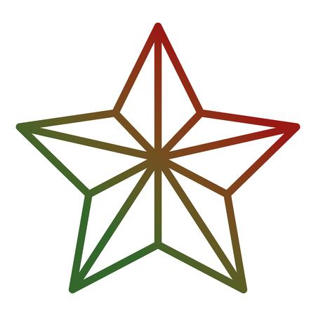 Weihnachtsstern dekoratives Symbol . Vektor-Illustration Design Standard-Bild - 93318647