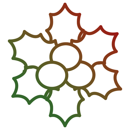 Christmas leafs decorative frame. Vector illustration design. Stock Vector - 93318651