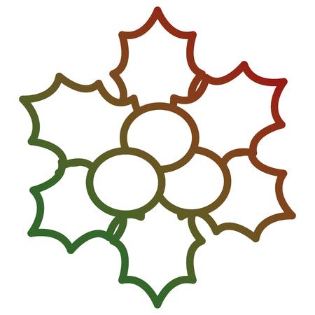 Christmas leafs decorative frame. Vector illustration design.