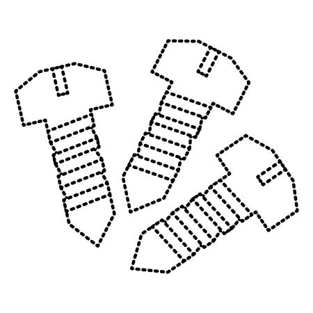Drie schroefhulpmiddelen herstellen objecten vectorillustratie
