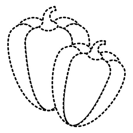 Paire d & # 39 ; ingrédient légume poivre épices illustration vectorielle Banque d'images - 93314952