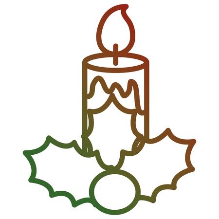 Diseño decorativo del ejemplo del vector del icono de las velas de la Navidad. Foto de archivo - 93297091