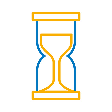 Business hour glass clock time vector illustration