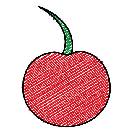 Cherry fruit isolated icon vector illustration design.