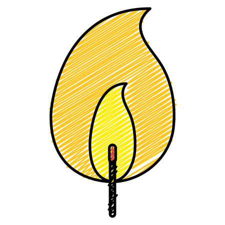 Fire flame isolated icon. Vector illustration design.