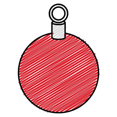 Christmas ball hanging icon. Vector illustration design. Stock Vector - 93318719