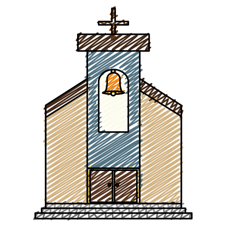 Church building isolated icon vector illustration design.