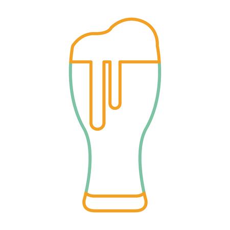 bierglas koud drankje drinken afbeelding vectorillustratie