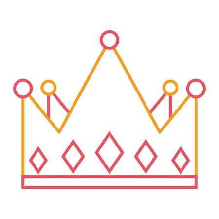 crown monarchy jewelry luxury gem vector illustration Imagens - 93318786
