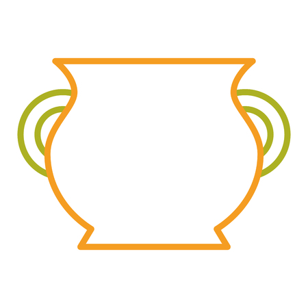 ceramic pot handle empty icon vector illustration