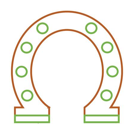 steel horseshoe symbolizes good luck vector illustration Stock Vector - 93318867