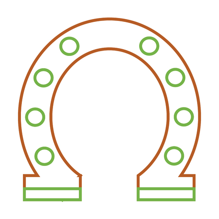 steel horseshoe symbolizes good luck vector illustration Illustration