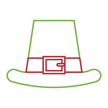leprechauns hat ornament clothes icon vector illustration