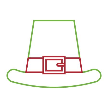 leprechauns hat ornament clothes icon vector illustration