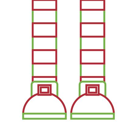 Beine von Strümpfen eines Kobolds streiften Vektorillustration Standard-Bild - 93318870