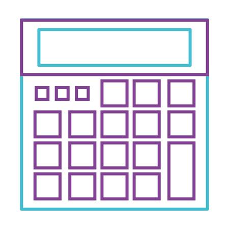 Calculatrice dispositif mathématique chip icône illustration vectorielle Banque d'images - 93318884