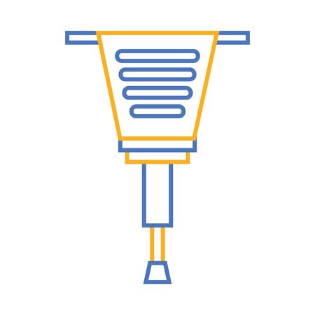 jackhammer tool repair construction equipment vector illustration Ilustração