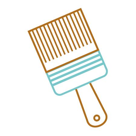 penseel gereedschap apparatuur renovatie vector illustratie